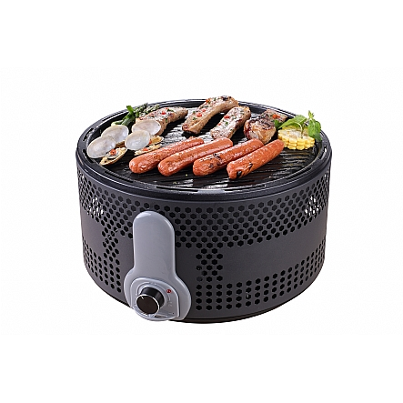 Gourmia Gbq330 Portable Charcoal Electric Bbq Grill Great For Camping 90 Smoke Reduction