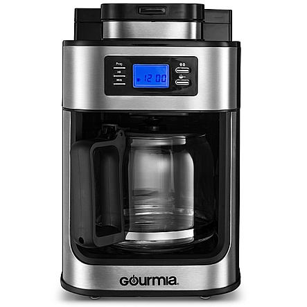 Drip Coffee Maker With Grinder : Coffee Machine, Gourmia GCM4500 Coffee Maker With Built In Grinder, Programmable 10 Cup ...