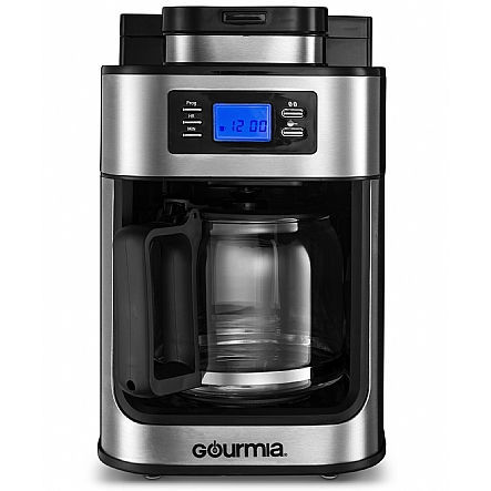 Gourmia Gcm4700 Coffee Maker With Built In Grinder Programmable 10 Cup Automatic Drip Gl