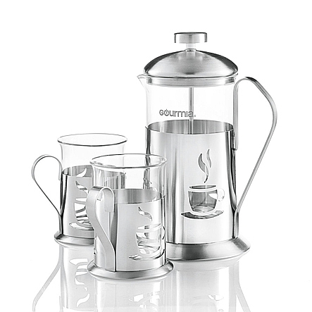 Gourmia Gcm9840 Coffee Maker Set Includes 600 Ml Decorative French Press Brewer With 2 Matching