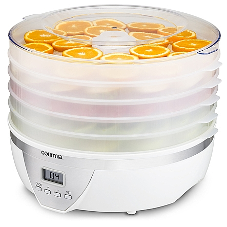Food dehydrator gourmia gfd1550 food dehydrator with digital gourmia gfd1550 food dehydrator with digital temperature settings five nesting tray drying system for beef forumfinder Choice Image