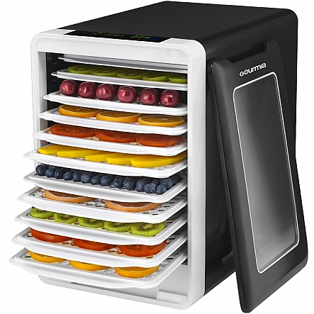 Food dehydrator gourmia gfd1750 food dehydrator with touch digital gourmia gfd1750 food dehydrator with touch digital temperature control ten drying trays plus beef jerky forumfinder Choice Image