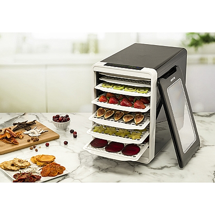 Food dehydrators gourmia gfd1750 food dehydrator with touch digital gourmia gfd1750 food dehydrator with touch digital temperature control ten drying trays plus beef jerky forumfinder Choice Image