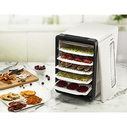 Food dehydrators gourmia gfd1850 food dehydrator with touch digital gourmia gfd1850 food dehydrator with touch digital temperature control ten drying trays plus beef jerky forumfinder Choice Image