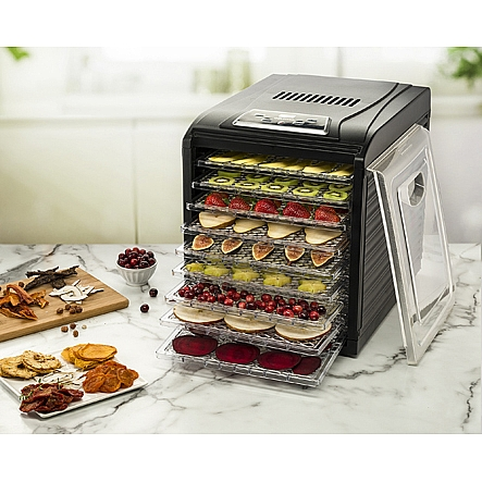 Food dehydrators gourmia gfd1950 digital food dehydrator nine gourmia gfd1950 digital food dehydrator nine drying trays plus fruit leather tray digital temperature forumfinder Choice Image