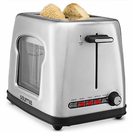 toaster gourmia gwt430 stainless steel wide slot toaster. Black Bedroom Furniture Sets. Home Design Ideas