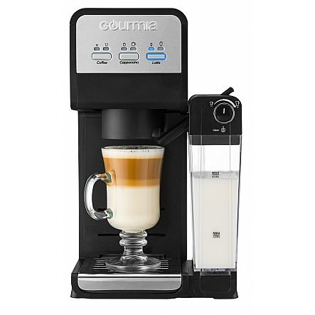 Gourmia Gcm4000 3 In 1 Single Serve Coffee Maker And Milk Frother Steamer Universal
